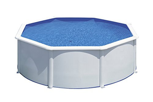 Gre kitpr353Bora Bora piscina smontabile rotonda in acciaio bianco Ø350X 120 cm