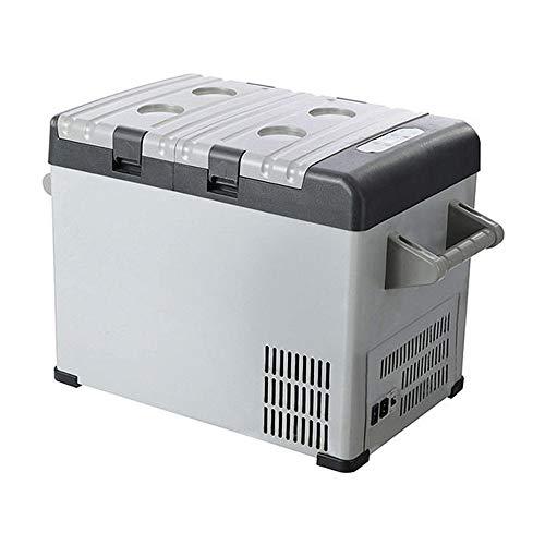 Elektrische Kühlbox Tragbarer Kühlschrank 32-Liter-Fahrzeug, Auto, LKW, Wohnmobil, Boot, Mini-Kühlschrank mit Gefrierfach Zum Fahren, Reisen, Angeln, für den Außen- und Heimgebrauch - 18 ºC Tragbarer