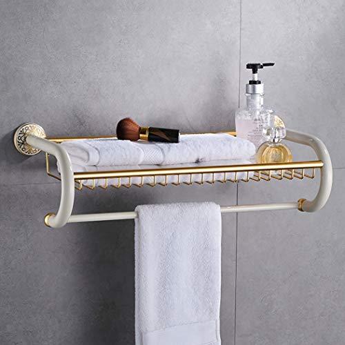 TYQGKX Handtuchhalter Doppel Bad Organizer Wand Bad Handtuchhalter Rack für Familienhotel Apartment 62 cm