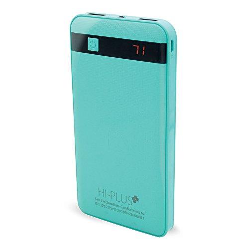 HI-Plus H130 Slim Digital Display 10400 mAh Li-Polymer Power Bank(Green_Black)