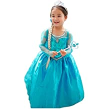 Vestido Niñas Disfraz ANNA ELSA
