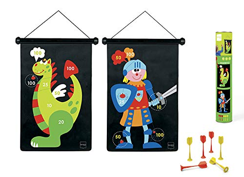 Scratch 6182002 - Dartspiel Drachen/Ritter, groß, magnetisch, 70 x 36 cm