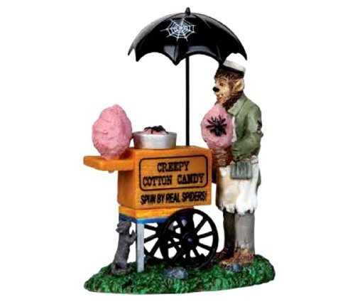 Lemax 12936 CREEPY COTTON CANDY SPOOKY TOWN Figure Halloween Decor New by Lemax