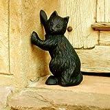 Antikas - Türstopper schwarze Katze, Skulptur, Türöffner, schwarzer Kater sehr schwer