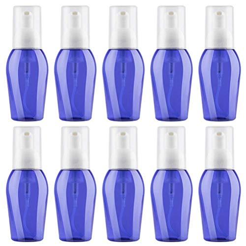 Lurrose 10pcs schäumende Seifenspender Flaschen schäumende Pumpe leere Behälter für Flüssigseife Handspender Küche Bad Seifen Shampoo Lotions (blau) 80ml (Schäumende Flüssigseife Pumpe)