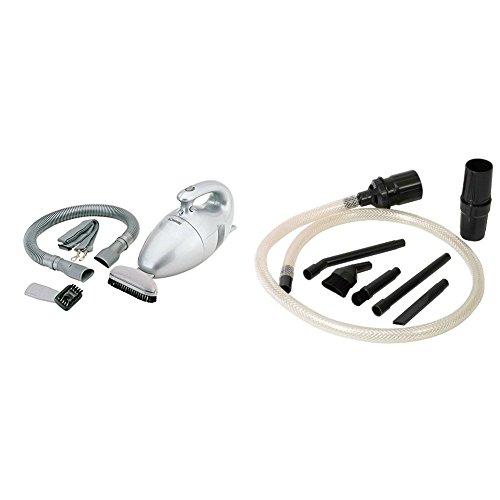 Bomann CB 947 - Aspiradora de mano con cable y filtro permanente (700 W) + Menalux D18N - Micro Kit de 8 accesorios universales para todos los modelos de aspiradoras trineo