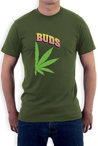 Best Buds Hanf Rechtes Paarmotiv für gute Freunde T-Shirt Olivgrün