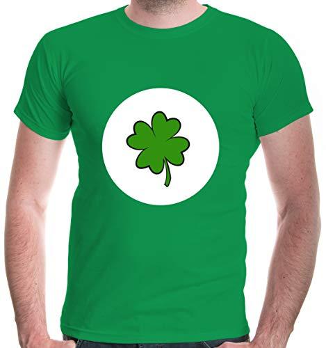 buXsbaum® Herren T-Shirt Glücksbärchi Glück Kostüm Fasching | S, Grün