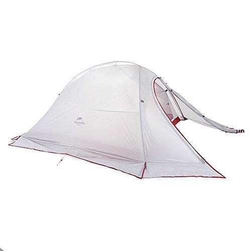 Naturehike Cloud-up 2 Personen Zelt Ultraleichte Doppelten Zelt 3/4 Saison Camping Zelt (20D Grau mit Rock)