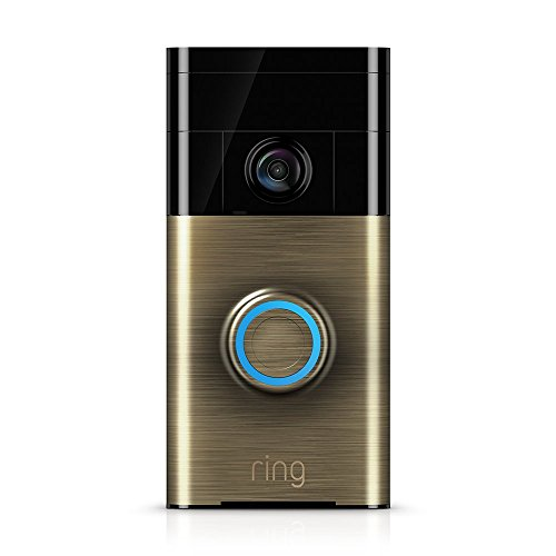 Ring Video Doorbell - Videoportero 720p HD con audio bidireccional, detección de movimiento y conexión wi-fi, color Latón Antiguo width=