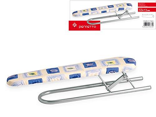 Home - Tabla para planchar mangas, de tela gris/multicolor, 53 x 13 x 4 cm