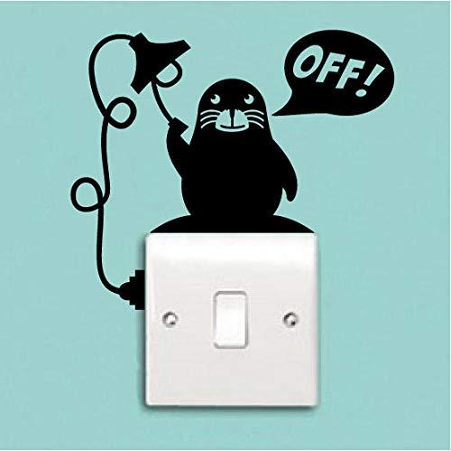 Calcomanía del interruptor de luz Extraíble Creativo Animal Sea Lion Pegatinas de vinilo para la habitación de los niños Decoración del hogar Art Light Quotes Off DIY PVC 15 * 15 cm