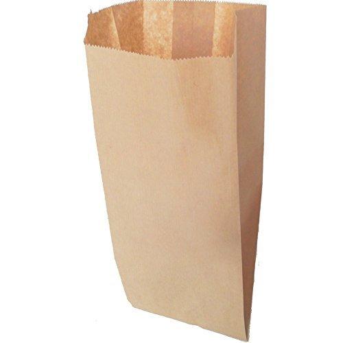 Dalbags - Sacchetti di carta marrone ALIOS - Formato cm. 22x44 - Scatola da Kg.2 - Sacchetti in carta avana per alimenti ideali per confezionare pane, pizze, dolci, confetti, caramelle ed articoli da forno in genere - Buste di carta perfette per locali di ristorazione, negozi e bancarelle