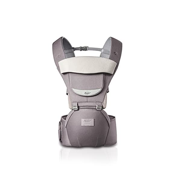 SONARIN 3 in 1 All Season Breathable Hipseat Baby Carrier,Sun Protection,Ergonomic,Multifunction,Easy Mom,Adapted to Your Child's Growing, 100% Guarantee and Free DELIVERY,Ideal Gift(Gray) SONARIN Applicable age and Weight:0-36 months of baby, the maximum load: 30KG, and adjustable the waist size can be up to 45.3 inches (about 115 cm). Material:designers carefully selected soft and delicate Cotton cloth. Resistant to wash, do not fade, ensure the comfort and wear resistance, Inner pad: EPP Foam,high strength,safe and no deformation,to the baby comfortable and safe experience. Description: patented design of the auxiliary spine micro-C structure and leg opening design, natural M-type sitting.Side double storage bag, store mobile phones, wipes and other necessities. H-type bridge belt, effectively fixed shoulder strap position, to prevent shoulder straps fall, large buckle, intimate design, make your baby more secure. 1