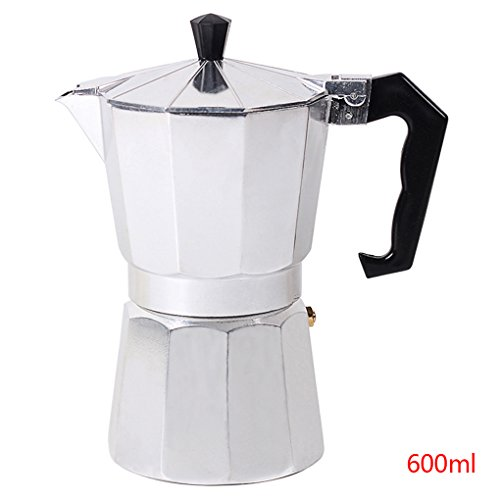 Focus 1 Tasse/3Cup/6Cup/9Cup/12Cup Aluminium Espresso Kaffeemaschine elektrische Kaffeekanne Silvery...