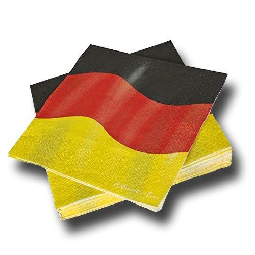 im * DEUTSCHLAND * für Party und Geburtstag von DH-Konzept // Servietten Napkins Feier Fete Set Mottoparty schwarz rot gold gelb Germany BRD ()