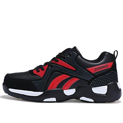 Homme Chaussures De Sport Mode Chaussures De Basket Chaussures Antidérapantes Chaussures De Trekking Chaussures De Voyage Grande Taille Euro Dimension 38-45 Rouge