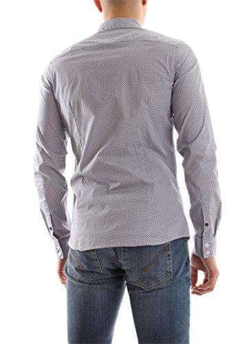 Camicia in cotone uomo Guess M72H47W7VX0 ROYAL/ROSSO