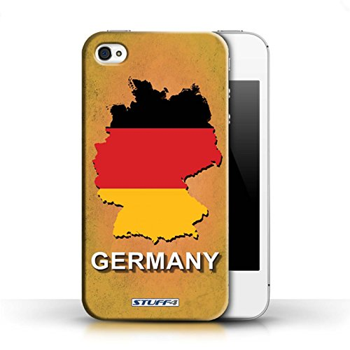 KOBALT® Hülle Case für Apple iPhone 4/4S | Argentinien Entwurf | Flagge Land Kollektion Deutschland/Deutsch