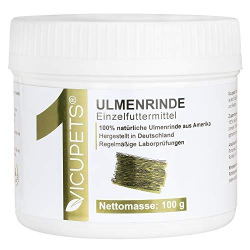 Vicupets® ONE Ulmenrinde für Hunde & Katzen I 100g Amerikanische Slippery Elm Bark I 100% natürliche Unterstützung zur Beruhigung der Verdauung
