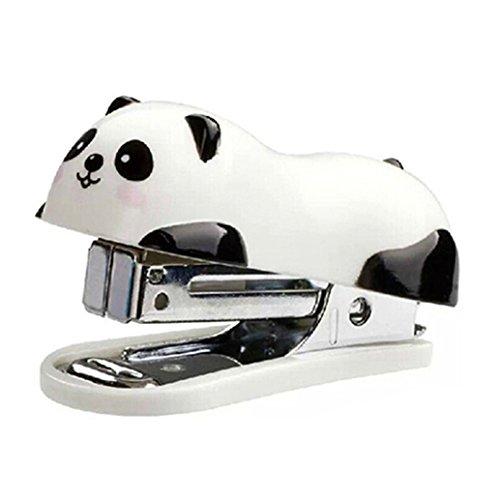 Bismarckbeer 1pieza Cartoon Panda forma oficina grapadora