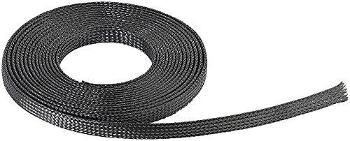 Callstel Kabelschlauch: Selbstschließender Netzschlauch aus Polyester, 5 m (Kabelspirale)