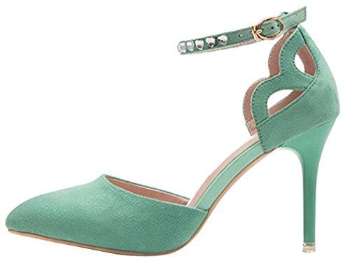 wangfeier-womens-elegant-diamonds-pointed-toe-high-heel-court-pump-sandals-size-35-eu-green
