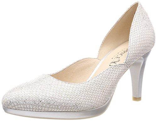 22407, Zapatos de Tacón Para Mujer, Gris (Lt Grey Struct 206), 39 EU Caprice