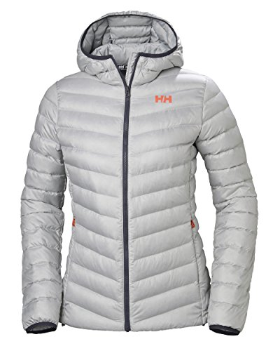 Helly Hansen W Verglas Hooded Insulato Down Jacket, Mujer, Light Grey, S