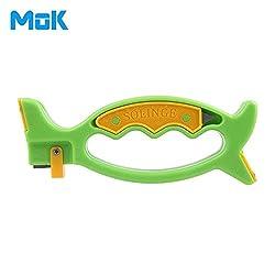 GENERIC Escrito de Pez Universal 5 en 1 Cuchillo Afilador De Tijeras Esmeril Reciclable ABS Seguridad Durable Simple Rpida Molienda Gruesa