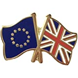 United Kingdom Union Jack and European Union EU Friendship Flag Pin Badge