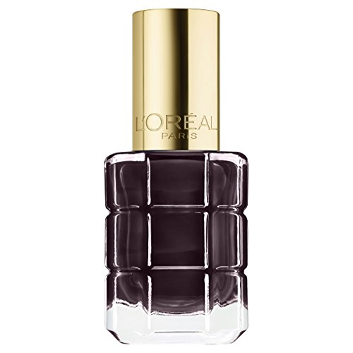 L'Oréal Paris Color Riche Le Vernis Nagellack mit Öl in Dunkelgrau / Pflegender Farblack in kräftigem Grau mit Glanz-Effekt /# 556 Grenat Irrevere / 1 x 14ml - Pop Polish Nail Beauty