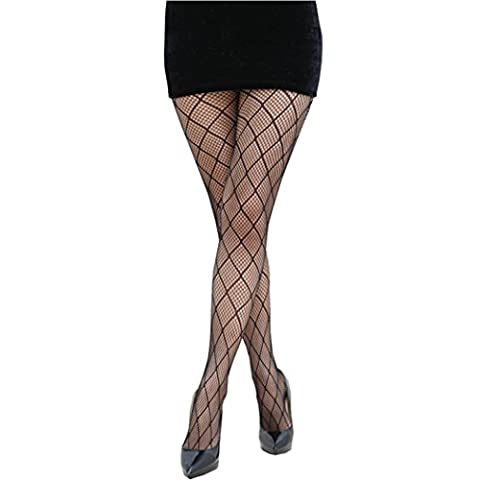 Ularma Mode Femmes NET Résille Bodystockings Modèle Bas-culottes Collants Bas W003
