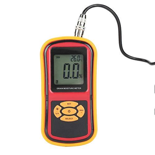 Feuchtemessgerät, GM640 Tragbares digitales LCD-Getreidefeuchtigkeitstemperatur-Messgerät für Reisweizenmais-Sojabohnen -