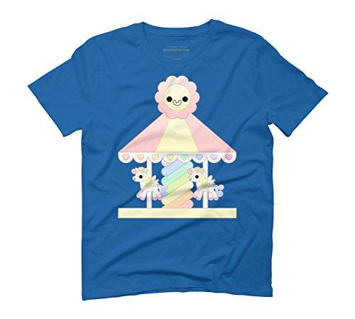 Kawaii carousel Men's Graphic T-Shirt - Design By Humans Royal Blue