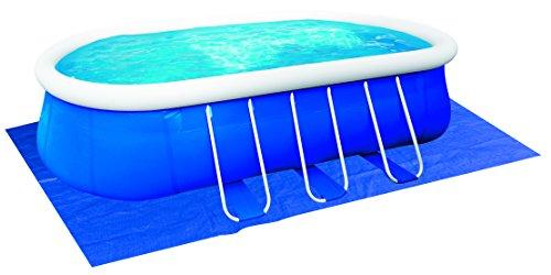 Jilong jl017242N toalla base piscinas ovaladas con estructura, 540x 304x 0.5cm, piezas de 4, Azul