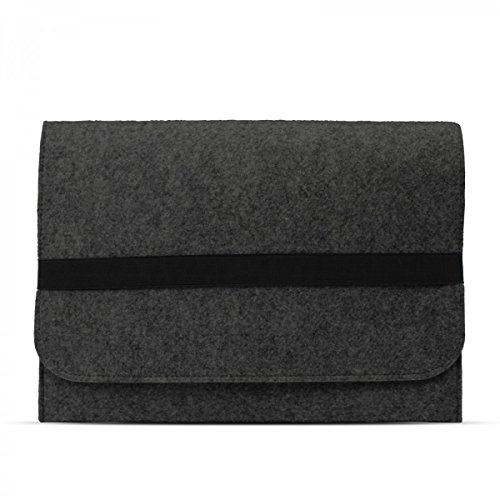 eFabrik Case für HP ProBook 430 G4 / G3 13,3 Zoll Schutzhülle Ultrabook Laptop Case Soft Cover Schutztasche Sleeve Filz dunkel grau