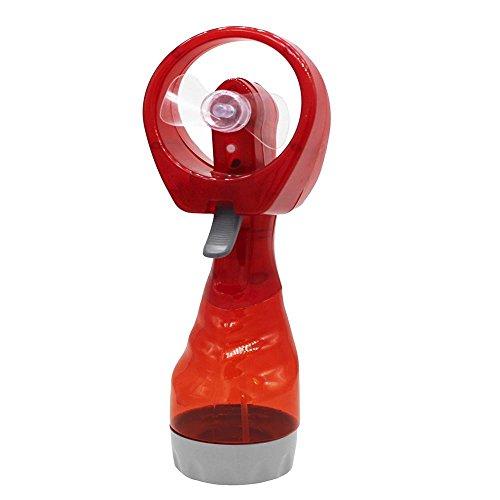 Tofree Handventilator Tragbarer Kleiner Ventilator kühler Wasser-Spray-Nebel-Fan-Nebel für Outdoor, Rot (Kühler Wasser)
