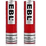 EBL 2 Piles 18650 Rechargeables Grande Capacité 3.7V/3000mah Li-ion Plus Puissante Multi-Protection