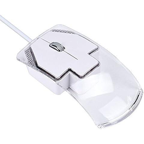 WINWINTOM 1600 DPI USB óptico LED Ratones con cable juego del ratón para el ordenador portátil de la PC