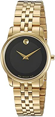 Movado Womens Quartz Watch, Analog Display and Stainless Steel Strap 0607005