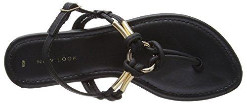 New Look Damen Heated Sandalen mit Absatz Schwarz (Schwarz)