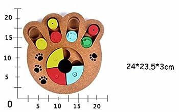 Jouets interactifs pour chiens et chats Jouets en bois traité en bois pour animaux de compagnie? patte en forme?