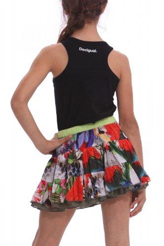 Desigual – Falda Reversible, Evermann, Chica, Color: Multi,Talla: 14