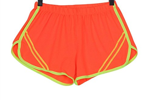 kingko® Femmes Sport Casual Yoga Courir respirantes Shorts Workout Vêtements Orange