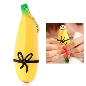 Novedoso Llavero en Forma de Banana de Silicona para Liberar el Estrés de BestOfferBuy