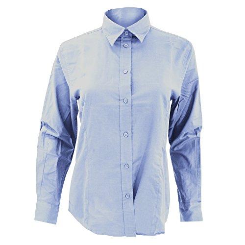 Kustom Kit - Camicia Maniche Lunghe - Donna White