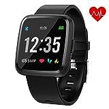 Juboury Bluetooth Smartwatch, Fitness Tracker Smart Watch Sport Uhr Aktivitätstracker Schrittzähler Schlaftracker...