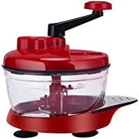 OTTOCASA Picadora de Alimentos,Picadora Chopper Manual de Verduras/Carne con 3 Cuchillas/