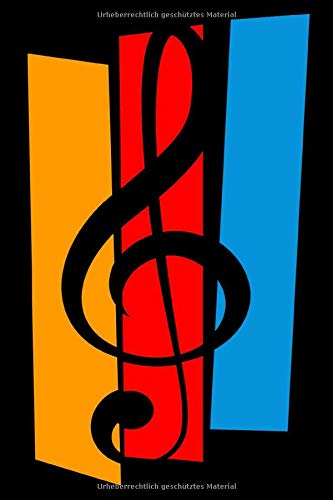 Notenbuch: Leeres Notensystem - blanko Notenzeilen - 120 Seiten - 6x9 Zoll (ca. Din A5) - leere Notenzeilen- für Musiker und Liedermacher
